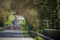 after 65 kilometers on smooth roads, the peloton is preparing for the infamous gravel sectors<br /> <br /> 33th Tro Bro L&eacute;on 2016