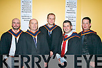 Eoin Sheehy, Listowel, Edward Barry, Tralee, Nicholas Doyle, Douglas, David Dempsey, Dublin and Michael O'Donoghue, Tralee graduating from construction Management.