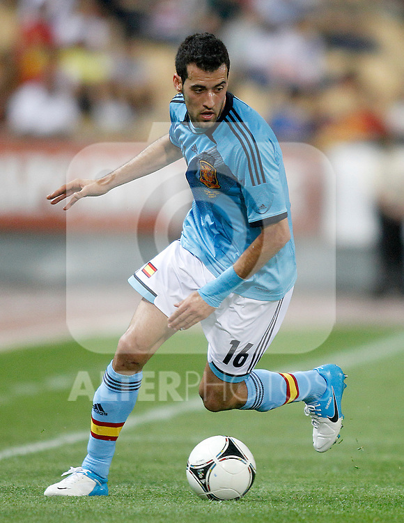 Spain's Sergio Busquets during friendly match.June 3,2012.(ALTERPHOTOS/Acero)