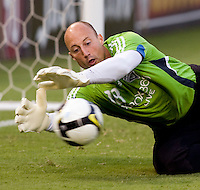Kasey Keller. The Seattle Sounders defeated DC United, 2-1, to win the 2009 Lamr Hunt U.S. Open Cup at RFK Stadium in Washington, DC.