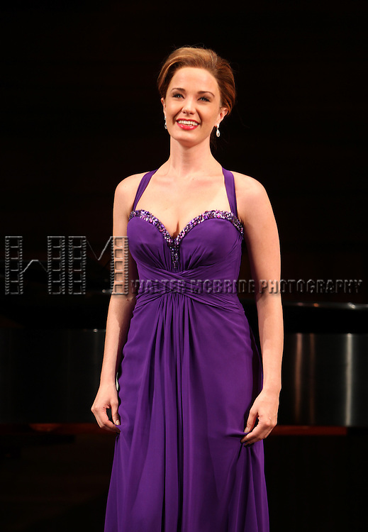 Sierra Boggess.at the Opening Night Performance Curtain Call for The Manhattan Theatre Club's  'Master Class' at the Samuel J. Friedman Theatre in New York City.