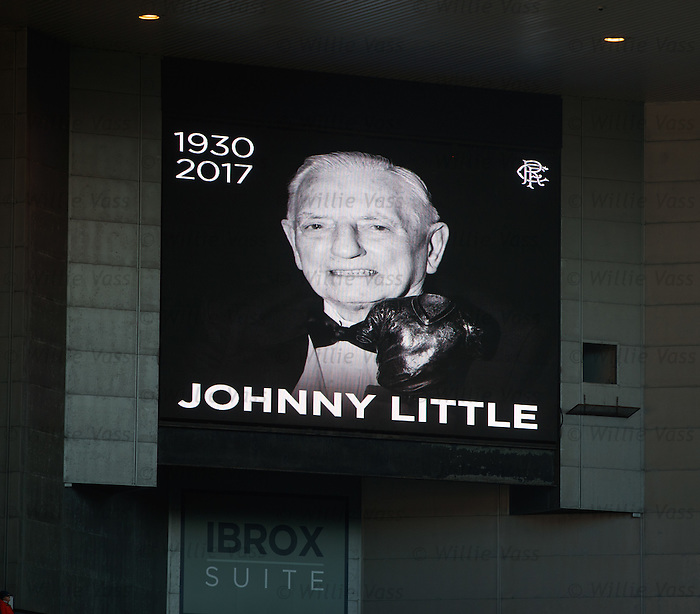 Ibrox remembers ex-Rangers player Johnny Little