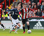 John Fleck of Sheffield Utd finds space during the championship match at the Bramall Lane Stadium, Sheffield. Picture date 14th April 2018. Picture credit should read: Simon Bellis/Sportimage