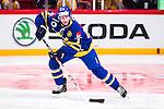 Stockholm 2014-05-03 Ishockey Oddset Hockey Games  Sverige - Finland :  <br /> Sveriges Niclas Burstr&ouml;m i aktion <br /> (Foto: Kenta J&ouml;nsson) Nyckelord:  Oddset Hockey Games Sverige Swe Tre Kronor Finland Fin Globen Ericsson Globe Arena portr&auml;tt portrait