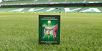3rd November 2019; Aviva Stadium, Dublin, Leinster, Ireland; FAI Cup Womens Final Football, Peamount United versus Wexford Youth Womens Football Club; View of the match day programme ahead of kick off between Peamount United and Wexford Youths - Editorial Use