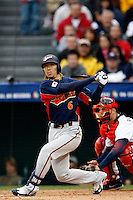 Hitoshi Tamura of Japan during World Baseball Championship at Angel Stadium in Anaheim,California on March 12, 2006. Photo by Larry Goren/Four Seam Images