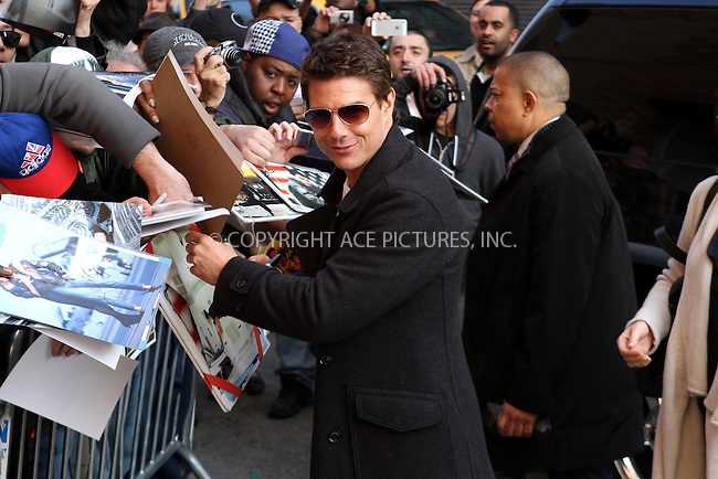 WWW.ACEPIXS.COM....April 16 2013, New York City....Actor Tom Cruise made an appearance at the Daily Show with Jon Stewart on April 16 2013 in New York City......By Line: Nancy Rivera/ACE Pictures......ACE Pictures, Inc...tel: 646 769 0430..Email: info@acepixs.com..www.acepixs.com