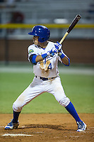 Nicky Lopez (4) of the Burlington Royals at bat against the Kingsport Mets at Burlington Athletic Stadium on July 18, 2016 in Burlington, North Carolina.  The Royals defeated the Mets 8-2.  (Brian Westerholt/Four Seam Images)