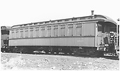 Coach #280 built by Jackson &amp; Sharp as coach #56 in 1880.  Renumbered in August 1885.<br /> D&amp;RGW  Gunnison, CO  Taken by Ward, Bert H. - 7/13/1946