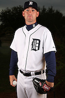 February 27, 2010:  Pitcher Robbie Weinhardt (72) of the Detroit Tigers poses for a photo during media day at Joker Marchant Stadium in Lakeland, FL.  Photo By Mike Janes/Four Seam Images