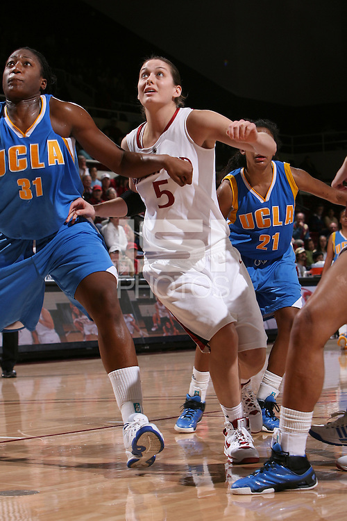 STANFORD, CA - FEBRUARY 1:  Michelle Harrison of the Stanford Cardinal during Stanford's 68-51 win over the UCLA Bruins on February 1, 2009 at Maples Pavilion in Stanford, California.