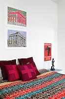 colored bedspread