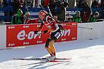 25/01/2015, Anterselva - Antholz - IBU Biathlon World Cup 2015 - Antholz -   Anterselva - Italy<br /> Luise Kummer (GER) competes at the relay in Anterselva - Antholz, Italy on 25/01/2015. Germany's team with Franziska Hidelbrand, Franziska Preuss, Luise Kummer and Laura Dahlmeier wins.