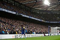 9th November 2019; Stamford Bridge, London, England; English Premier League Football, Chelsea versus Crystal Palace; Willian of Chelsea taking the ball to the corner  - Strictly Editorial Use Only. No use with unauthorized audio, video, data, fixture lists, club/league logos or 'live' services. Online in-match use limited to 120 images, no video emulation. No use in betting, games or single club/league/player publications