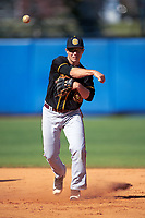 Bethune-Cookman Wildcats shortstop Nate Sterijevski (28) during practice before a game against the Wisconsin-Milwaukee Panthers on February 26, 2016 at Chain of Lakes Stadium in Winter Haven, Florida.  Wisconsin-Milwaukee defeated Bethune-Cookman 11-0.  (Mike Janes/Four Seam Images)