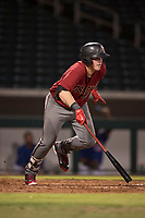 AZL Diamondbacks first baseman Jordan McArdle (45) starts down the first base line during an Arizona League game against the AZL Cubs 1 at Sloan Park on June 18, 2018 in Mesa, Arizona. AZL Diamondbacks defeated AZL Cubs 1 7-0. (Zachary Lucy/Four Seam Images)