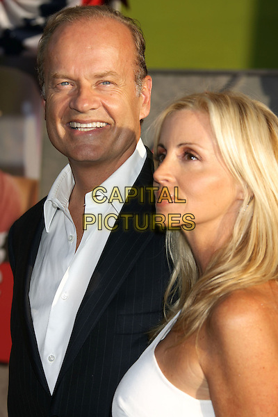 """KELSEY GRAMMER & wife CAMILLE GRAMMER .""""Swing Vote"""" World Premiere held at the El Capitan Theatre. Hollywood, California, USA, 24 July 2008..portrait headshot smiling married .CAP/ADM/MJ.©Michael Jade/Admedia/Capital Pictures"""
