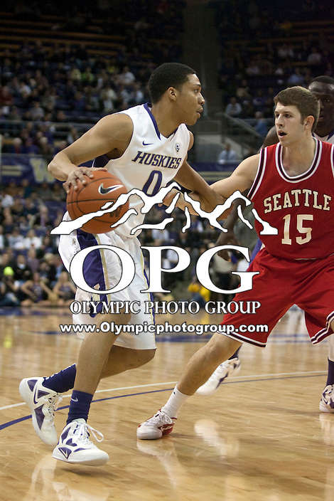 Jan 10, 2012:  Washington's Abdul Gaddy against Seattle University.  Washington defeated Seattle University  91-83 at Alaska Airlines Arena Seattle, Washington..
