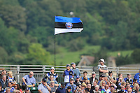 A general view of a Bath flag amongst the crowd. Aviva Premiership match, between Bath Rugby and London Welsh on September 13, 2014 at the Recreation Ground in Bath, England. Photo by: Patrick Khachfe / Onside Images