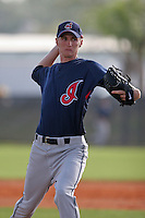Cleveland Indians minor leaguer Bear Bay during Spring Training at the Chain of Lakes Complex on March 16, 2007 in Winter Haven, Florida.  (Mike Janes/Four Seam Images)