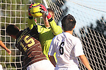 Palos Verdes, CA 02/09/12 - Kyle Katayama (Peninsula #6) in action during the West vs Peninsula Bay League boys varsity soccer game.