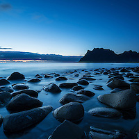 Last light at Utakleiv beach, Lofoten Islands, Norway