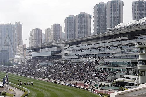 11.12.2016, Hong Kong,  CHINA.  View at the grandstand. Sha tin racecourse, Hong Kong Vase.