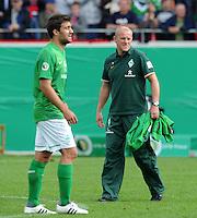 FUSSBALL   DFB POKAL   SAISON 2011/2012  1. Hauptrunde FC Heidenheim - Werder Bremen              30.07.2011 Enttaeuschung bei Trainer Thomas Schaaf (SV Werder Bremen)