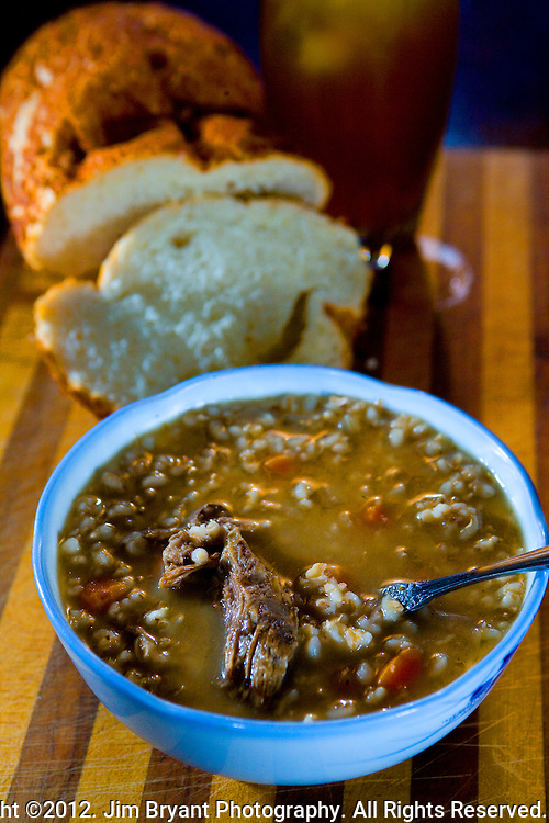 Beef Barley soup.  ©2012. Jim Bryant Photo. All Rights Reserved.