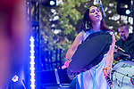 Inuit throat singer Jenna Joyce Broomfield performs with Tanya Tagaq at the Interstellar Rodeo in Edmonton, on July 25, 2015.