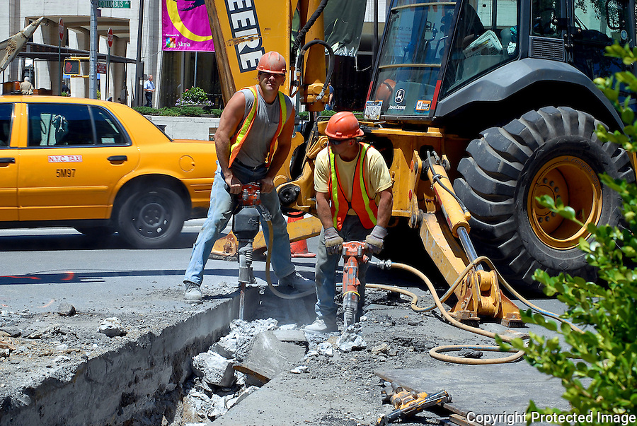 NYC Construction, Construction Workers, Tough New Yorkers, New York City Street Scene<br />