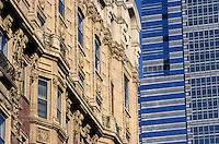 """Amérique/Amérique du Nord/USA/Etats-Unis/Vallée du Delaware/Pennsylvanie/Philadelphie : Façade de l'hôtel """"Belgravia"""" et gratte ciel de One Liberty Place"""
