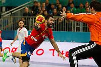 19.01.2013 World Championshio Handball. Match between Spain vs Croatia (25-27) at the stadium La Caja Magica. The picture show  Joan Canellas Reixac (Centre Back of Spain)