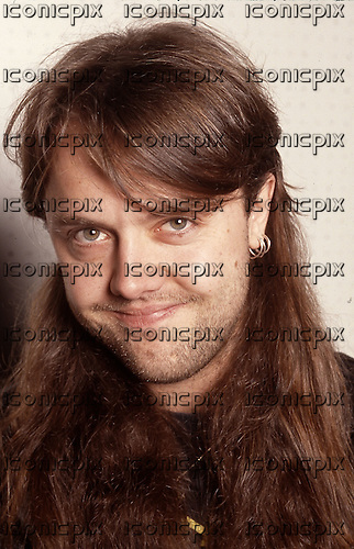 Metallica - Lars Ulrich - backstage at the Messehalle, Hannover, Germany - 19 May 1990. Photo credit: George Chin/IconicPix