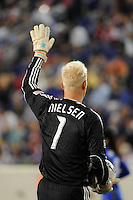 Kansas City Wizards goalkeeper Jimmy Nielsen (1). The New York Red Bulls defeated the Kansas City Wizards 1-0 during a Major League Soccer (MLS) match at Red Bull Arena in Harrison, NJ, on October 02, 2010.