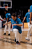 9th February 2018, Wiznik Centre, Madrid, Spain; Euroleague Basketball, Real Madrid versus Olympiacos Piraeus; Chasson Randle (Real Madrid Baloncesto) Pre-match warm-up