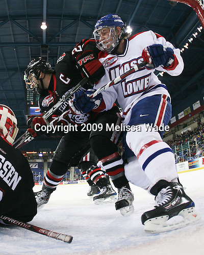 Joe Vitale (Northeastern - 26), Maury Edwards (UMass-Lowell - 7) - The Northeastern University Huskies defeated the University of Massachusetts-Lowell Riverhawks 3-1 on Saturday, February 28, 2009, at the Paul E. Tsongas Arena in Lowell, Massachusetts.
