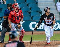 Julian Leon, durante partido3 de beisbol entre Naranjeros de Hermosillo vs Mayos de Navojoa. Temporada 2016 2017 de la Liga Mexicana del Pacifico.<br /> © Foto: LuisGutierrez/NORTEPHOTO.COM
