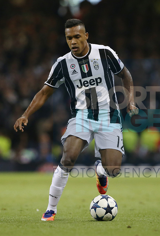 Juventus' Alex Sandro in action during the Champions League Final match at the Principality Stadium, Cardiff. Picture date: June 3rd, 2017. Pic credit should read: David Klein/Sportimage