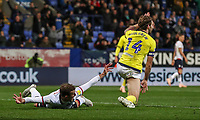 Bolton Wanderers' Christian Doidge appeals for a penalty as Blackburn Rovers' Charlie Mulgrew protests his innonence<br /> <br /> Photographer Andrew Kearns/CameraSport<br /> <br /> The EFL Sky Bet Championship - Bolton Wanderers v Blackburn Rovers - Saturday 6th October 2018 - University of Bolton Stadium - Bolton<br /> <br /> World Copyright &copy; 2018 CameraSport. All rights reserved. 43 Linden Ave. Countesthorpe. Leicester. England. LE8 5PG - Tel: +44 (0) 116 277 4147 - admin@camerasport.com - www.camerasport.com