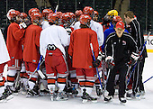 takes part in the Engineers' morning skate at the Xcel Energy Center in St. Paul, Minnesota, on Friday, October 12, 2007, during the Ice Breaker Invitational.