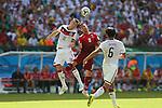 (L to R) <br /> Toni Kroos (GER), <br /> Joao Moutinho (POR), <br /> JUNE 16, 2014 - Football /Soccer : <br /> 2014 FIFA World Cup Brazil <br /> Group Match -Group G- <br /> between  Germany 4-0 Portugal <br /> at Arena Fonte Nova, Salvador, Brazil. <br /> (Photo by YUTAKA/AFLO SPORT)