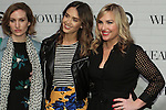 (l-r) Katherine Power, Jessica Alba and Hillary Kerr posing together during the Target + Who What Wear launch of the Who What Wear collection by Hillary Kerr and Katherine Power, on January 27, 2016.