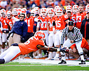 October 31, 2009 - Champaign, Illinois, USA - Illinois running back Mikel Leshoure (5) is unable to reach this pass from Juice Williams in the game between the University of Illinois and the University of Michigan at Memorial Stadium in Champaign, Illinois.  Illinois defeated Michigan 38 to 13.  ..