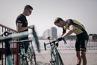 Lars Boom (NED/LottoNL-Jumbo) checking his bike at the race start<br /> <br /> 92nd Schaal Sels 2017 <br /> 1 Day Race: Merksem &gt; Merksem (188km)
