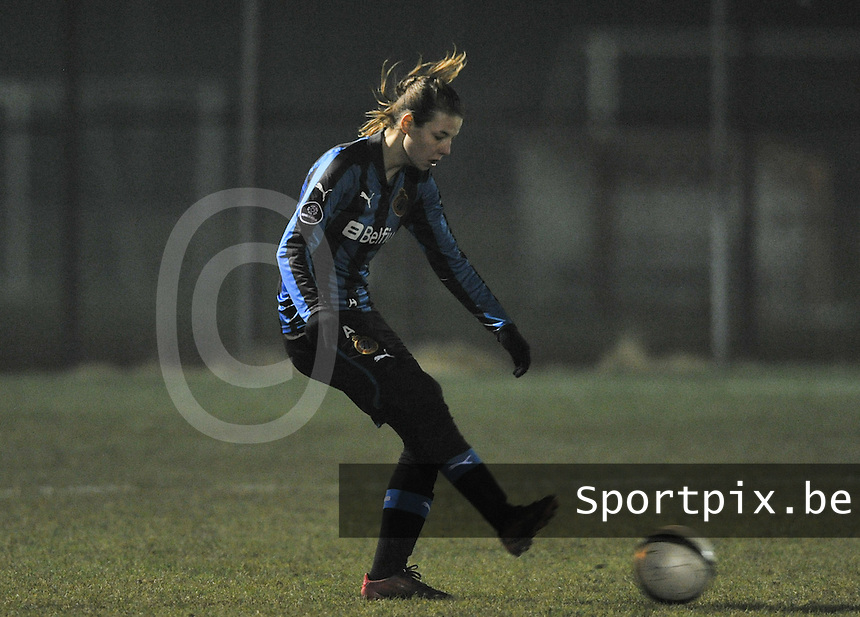 Club Brugge Dames - FC Utrecht : Nicky Van Den Abbeele .foto DAVID CATRY / Vrouwenteam.be