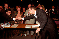 Montreal (Qc) CANADA - 1995 File Photo - April 1995 - Bloc Quebecois convention, Lucien Bouchard