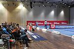 04.01.2018, Estrel Congress Center, Berlin, GER,  Internationaler DTB Tenniskongress 2019 <br /> <br /> im Bild Ruben Neyens referiert zum Thema Kids Tennis Blue und gestikuliert<br /> <br /> Foto © nordphoto/Mauelshagen