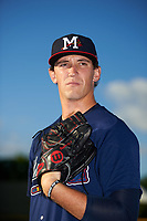 Mississippi Braves pitcher Patrick Weigel (18) poses for a photo before a game against the Montgomery Biscuits on April 24, 2017 at Montgomery Riverwalk Stadium in Montgomery, Alabama.  Montgomery defeated Mississippi 3-2.  (Mike Janes/Four Seam Images)