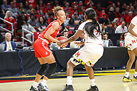 College Park, MD - March 23, 2019: Radford Highlanders forward Lydia Rivers (20) in action during game between Radford and Maryland at  Xfinity Center in College Park, MD.  (Photo by Elliott Brown/Media Images International)